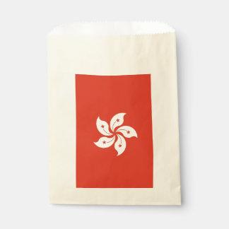 Favor bag with flag of Hong Kong