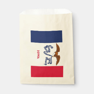 Favor bag with flag of Iowa State, USA
