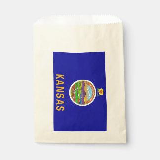 Favor bag with flag of Kansas State, USA