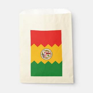Favor bag with flag of Los Angeles, USA