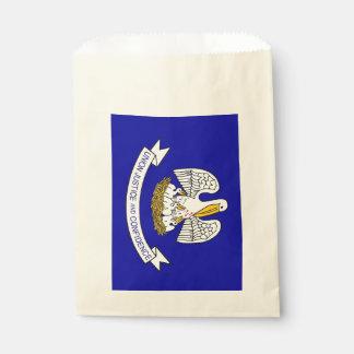 Favor bag with flag of Louisiana State, USA