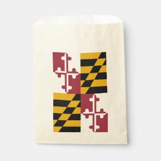Favor bag with flag of Maryland State, USA