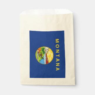 Favor bag with flag of Montana State, USA