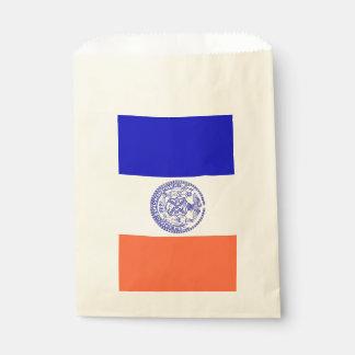 Favor bag with flag of New York City, USA