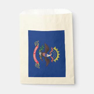 Favor bag with flag of North Dakota, USA
