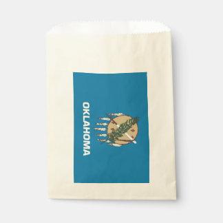 Favor bag with flag of Oklahoma State, USA