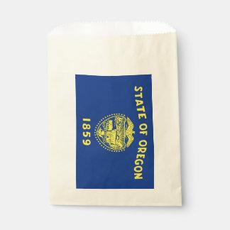 Favor bag with flag of Oregon State, USA