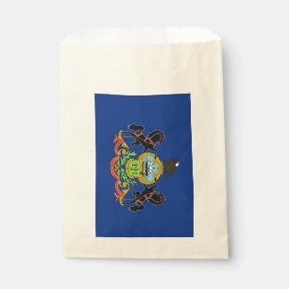 Favor bag with flag of Pennsylvania State, USA