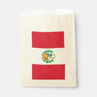 Favor bag with flag of Peru