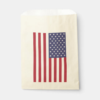 Favor bag with flag of United States of America