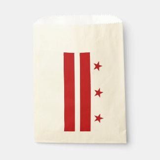 Favor bag with flag of Washington DC, USA