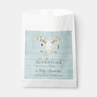 Favor Bags Baby Boy Shower BOHO Deer Antlers Arrow