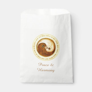 FAVOR BAGS gold YinYang Dove Harmomy