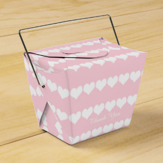 Favor Box Simple Hearts Thank you