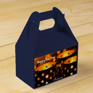 Favor Box with Christmas Candlelights