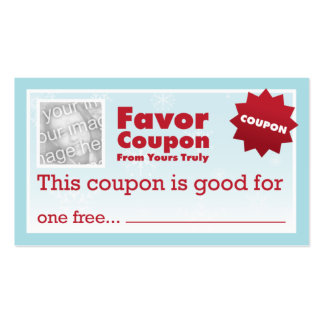 Favor Coupons Business Card Template