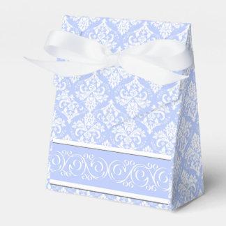 Favor/Gift Box - Wedgewood Blue Damask