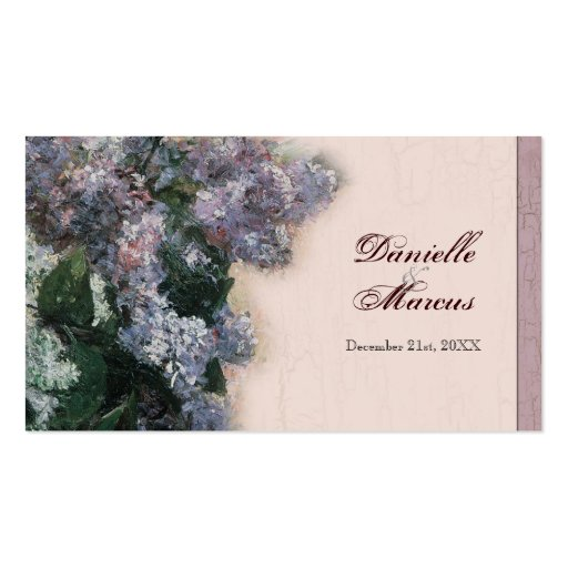 Favor Gift Tags - Impressionistic Lilacs Business Card
