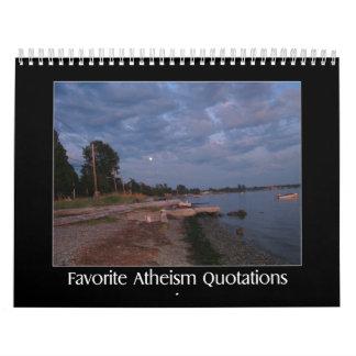 Favorite Atheism Quotes Calendars