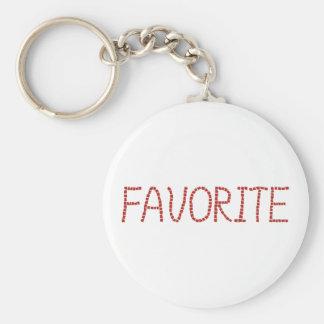 Favorite Basic Button Keychain