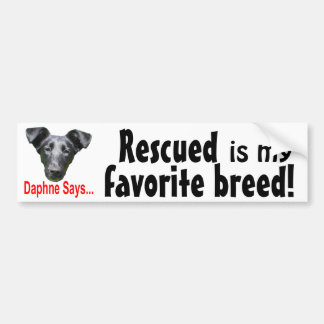 Favorite breed bumper sticker