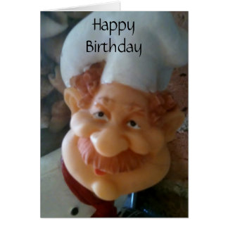 FAVORITE CHEF BIRTHDAY WISHES CARD