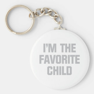 Favorite Child Basic Round Button Key Ring