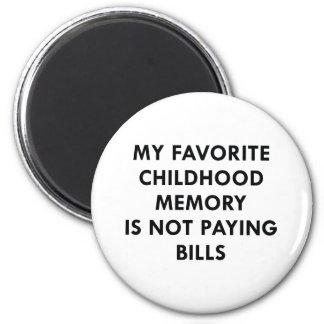 Favorite Childhood Memory 6 Cm Round Magnet
