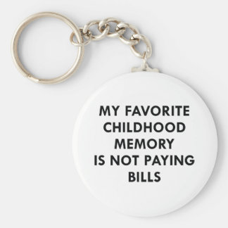 Favorite Childhood Memory Basic Round Button Key Ring