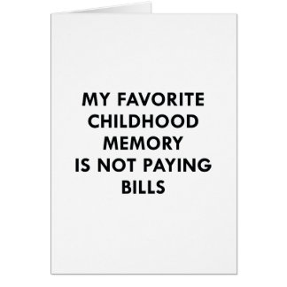 Favorite Childhood Memory Card