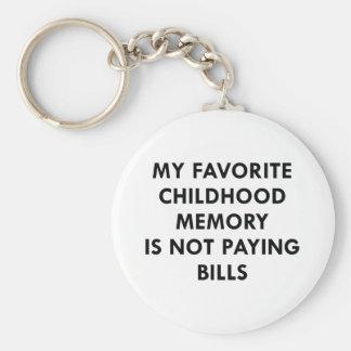 Favorite Childhood Memory Key Ring