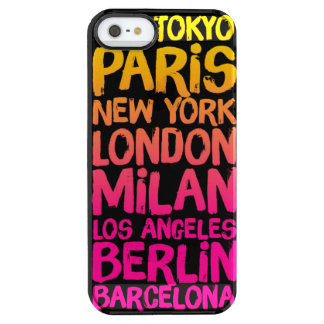 Favorite Cities Neon Clear iPhone SE/5/5s Case