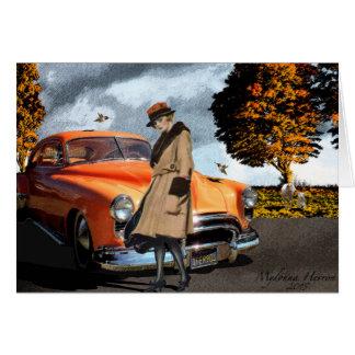 Favorite Color Orange 1920's Beauty Card