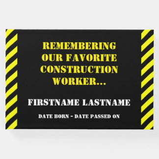 Favorite Construction Worker Funeral Guestbook