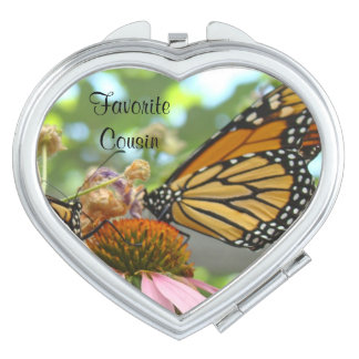 Favorite Cousin compact mirrors Monarch Butterfly