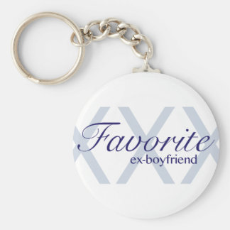 Favorite Ex-Boyfriend Basic Round Button Key Ring