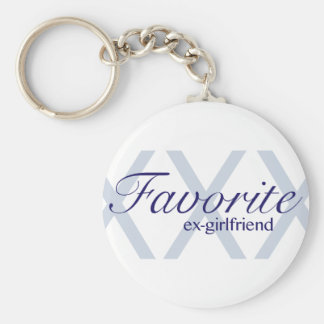 Favorite Ex-Girlfriend Basic Round Button Key Ring