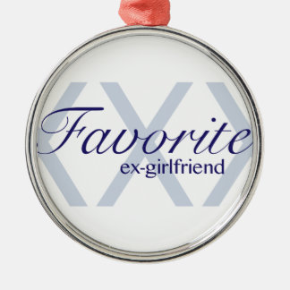 Favorite Ex-Girlfriend Silver-Colored Round Decoration