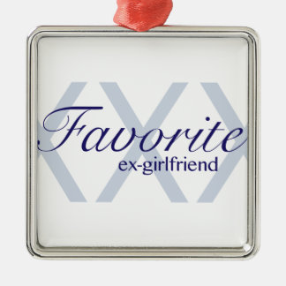 Favorite Ex-Girlfriend Silver-Colored Square Decoration