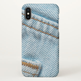 Favorite Faded Comfortable Blue Jeans iPhone X Case