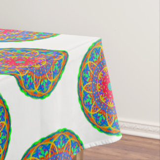 Favorite Fiesta Colorful Mandala Tablecloth