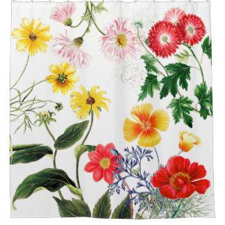 Favorite Garden Flowers Floral Shower Curtain