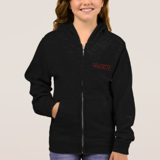 Favorite Girls' Basic Zip Hoddie Hoodie