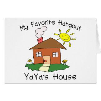 Favorite Hangout YaYa's House Card