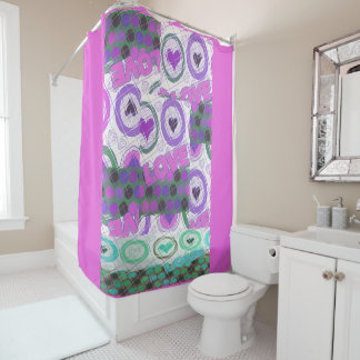 Favorite Latest amazing love quotes pattern design Shower Curtain