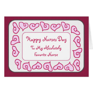 Favorite Nurse Happy Nurses Day Customizable Card