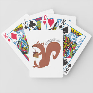 Favorite Nut Bicycle Playing Cards