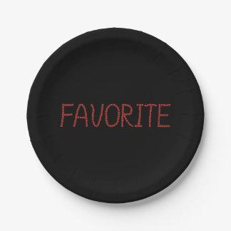 Favorite Paper Plates 7''