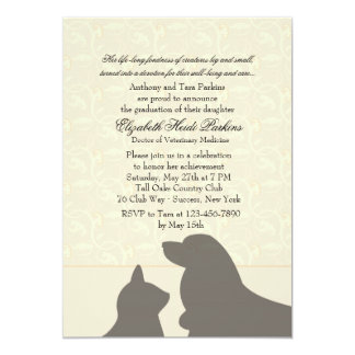 Favorite Pets Veterinary School Graduation Invites