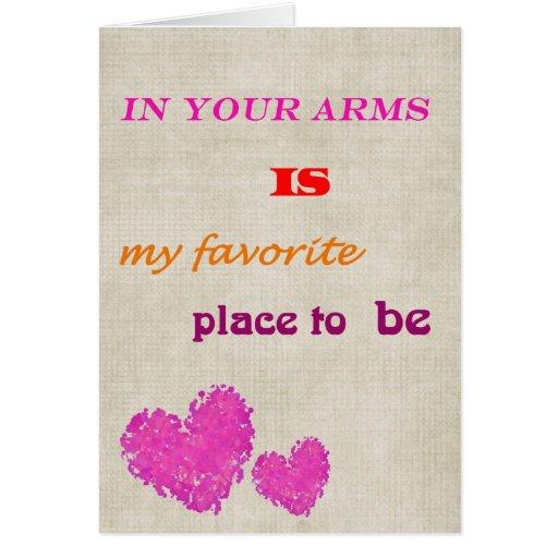 Favorite Place Elegant Valentine Card